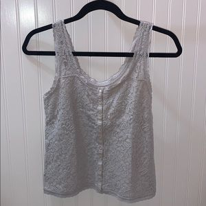 Hollister Tops - GRAY LACE TANK